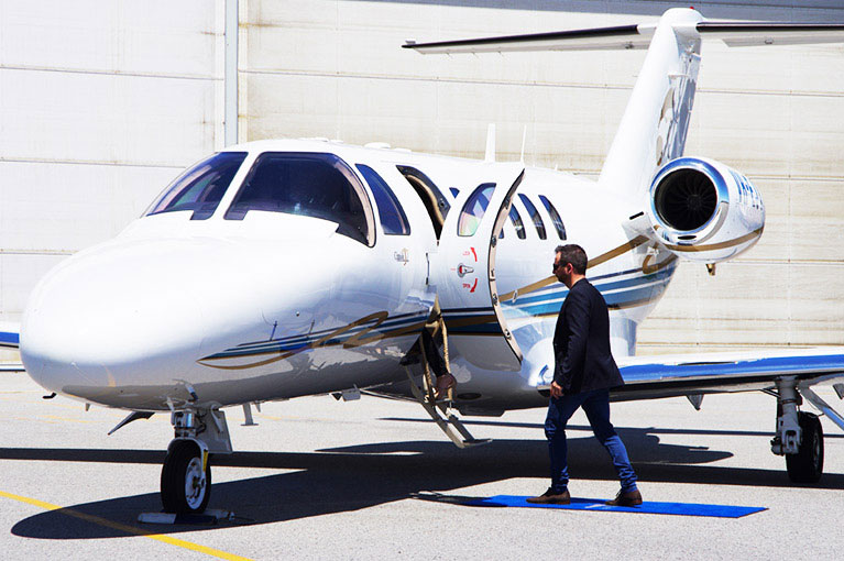 Man and plane