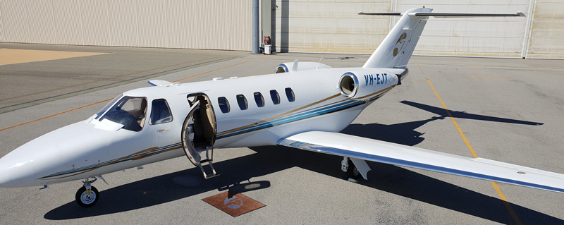 Erceg Aviation's Cessna CJ2 is ideal for last minute flights